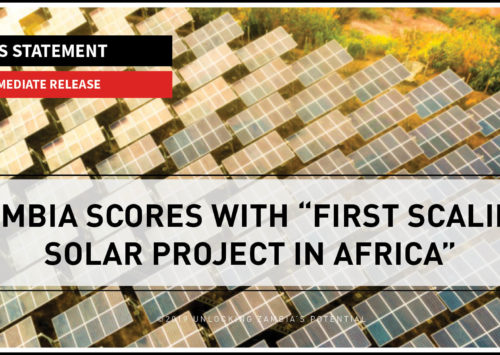 "BLOG – Zambia Scores with ""First Scaling Solar Project in Africa"""