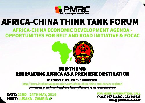 AFRICA-CHINA THINK TANK FORUM – 23 to 24 May 2019