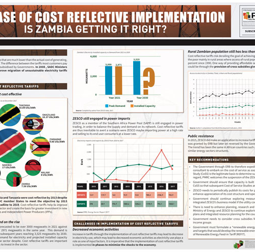 The Case Of Cost Reflective Implementation. Is Zambia Getting It Right?