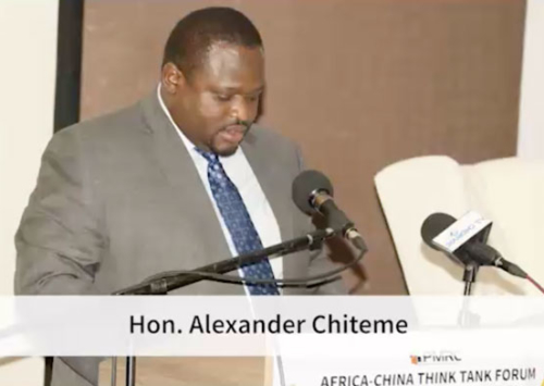 Africa-China Think Tanks Forum – Hon. Alexander Chiteme Speech.