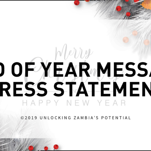 End of Year Message – Press Statement