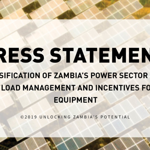 Diversification of Zambia's Power Sector in the Face of Load Management and Incentives for Solar Equipment – Press Statement