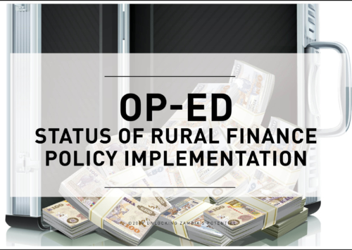 Op-ed: Status of Rural Finance Policy Implementation