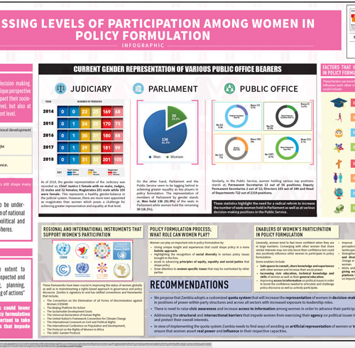 Assessing Levels of Participation among Women in Policy Formulation Infographic