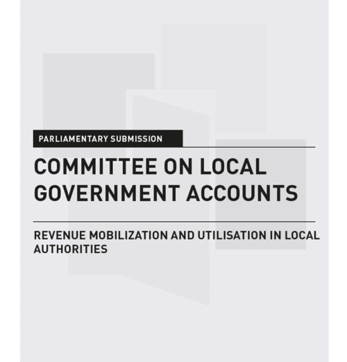 Committee on Local Government Accounts  – Parliamentary Submission