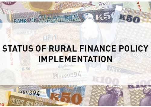 Blog – Status of Rural Finance Policy Implementation