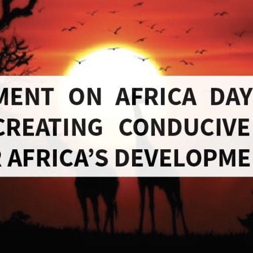 "PMRC Statement on Africa Day: ""Silencing the Guns: Creating Conducive Conditions for Africa's Development"""