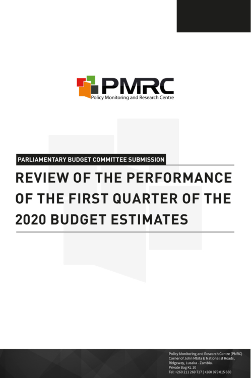 PMRC Submission to Parliament – Budget performance
