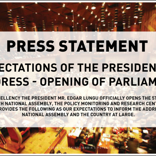 Press Statement – Expectations Of The Presidential Address – Opening Of Parliament