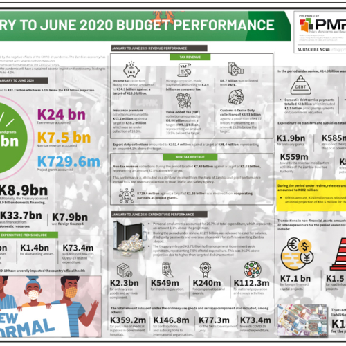 January to June 2020 Budget Performance – Infographic