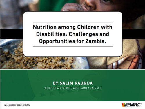 Presentation: Nutrition among Children with Disabilities – Challenges and Opportunities for Zambia