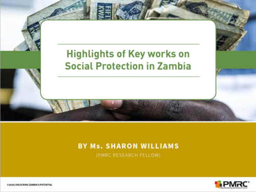 Presentation: Highlights of Key works on Social Protection in Zambia