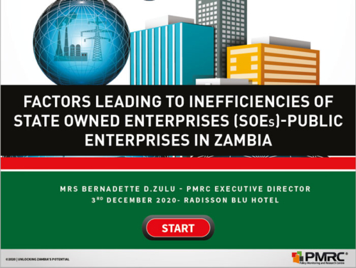 Presentation – Factors Leading to Inefficient of SOE's -Public Enterprises in Zambia