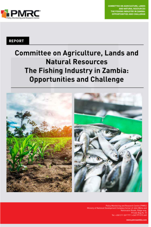 Parliamentary Presentation; The Fishing Industry in Zambia: Opportunities and Challenges