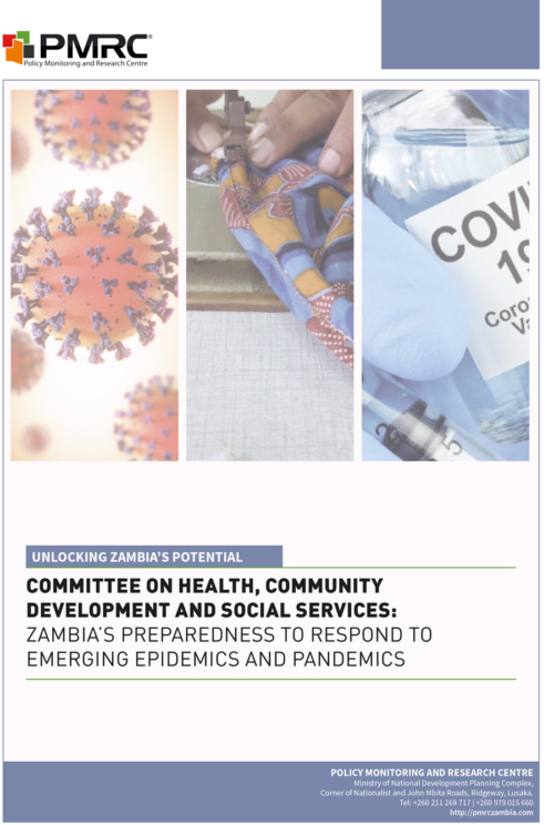 Presentation – Committee on Health, Community Development and Social Services- Zambia's Preparedness to Respond to Emerging Epidemics and Pandemics