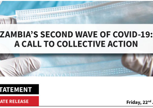 Press Statement: Zambia's Second Wave of COVID-19 – A Call to Collective Action
