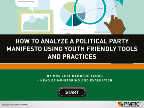 How to analyze a political party manifesto using youth friendly tools and practices – Presentation