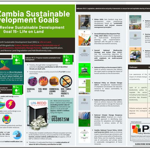 2020 Zambia Sustainable Development Goals National Review Sustainable Development Goal 15- Life on Land Infographic