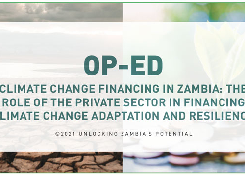 PMRC OPED – Private Sector Financing in Climate Change