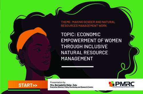 Topic- Economic Empowerment Of Women Through Inclusive Natural Resource Management  – Presentation