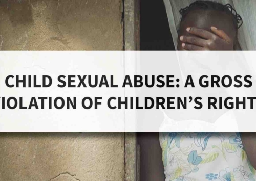 Blog – Child Sexual Abuse: A Gross Violation of Children's Rights