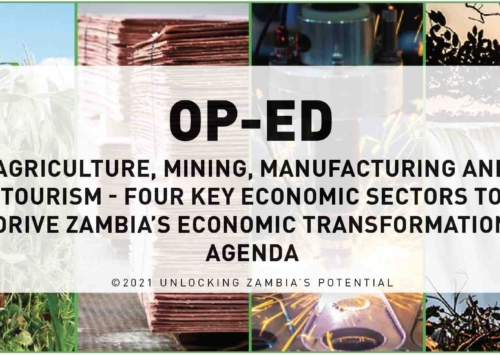 BLOG – Agriculture, Mining, Manufacturing and Tourism- Four Key Economic Sectors to Drive Zambia's Economic Stabilisation Agenda